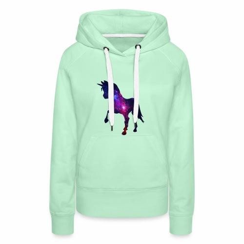 licorne 1 - Sweat-shirt à capuche Premium pour femmes