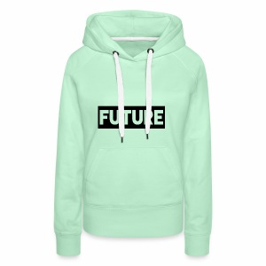Future Clothing - Text Rectangle (Black) - Women's Premium Hoodie