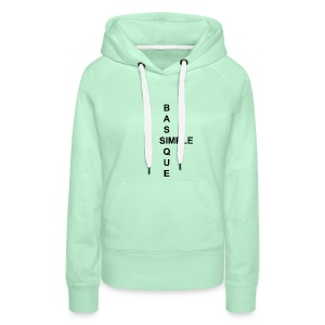 simple2 - Sweat-shirt à capuche Premium pour femmes