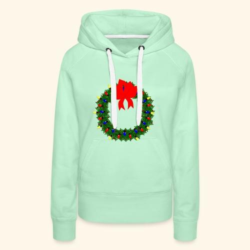 The christmas wreath - Women's Premium Hoodie