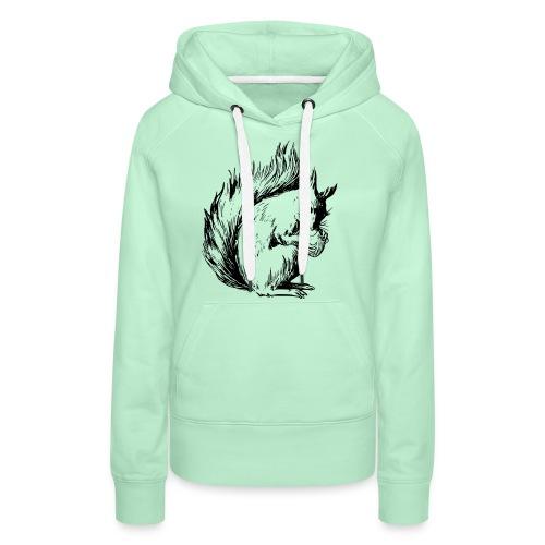 écureuil amandes - Sweat-shirt à capuche Premium pour femmes