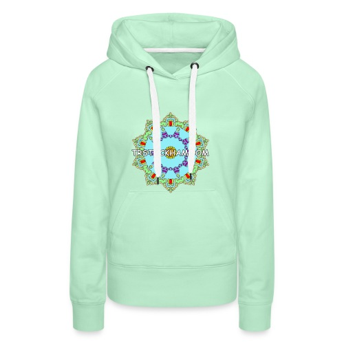 Enjoyably Quirky Colouring Book Design 9 - Women's Premium Hoodie