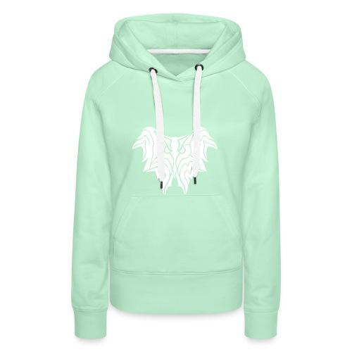Insane Reactionz Logo weiß - Frauen Premium Hoodie