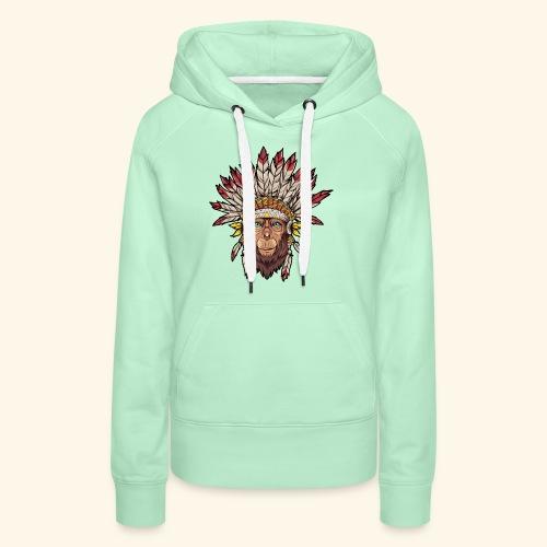 Tête de singe singes drôles - Sweat-shirt à capuche Premium pour femmes