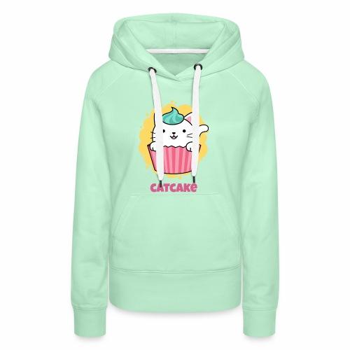 gato - Sudadera con capucha premium para mujer
