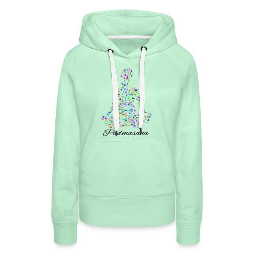 Yoga Padmasana T-Shirt - Frauen Premium Hoodie