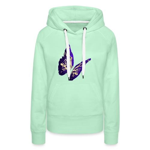Golden Butterfly 2 - incantevole farfalla colorata - Felpa con cappuccio premium da donna
