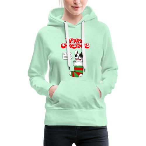 Christmas Dinner Bulldog - Vrouwen Premium hoodie