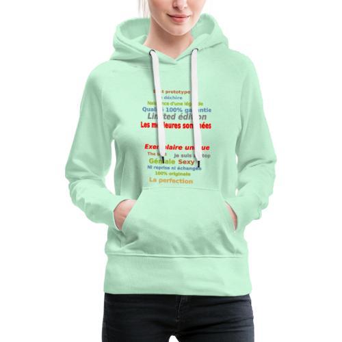 t shirt les meilleures sont nées sweat shirt mugs - Sweat-shirt à capuche Premium pour femmes