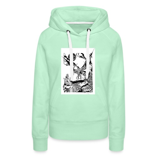 guerrera - Sudadera con capucha premium para mujer