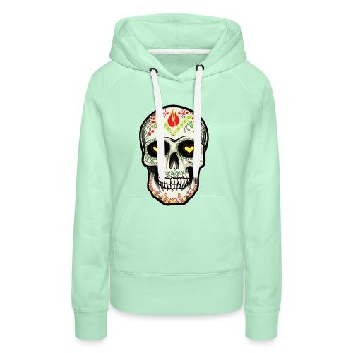 TETE DE MORT 1 - Sweat-shirt à capuche Premium pour femmes
