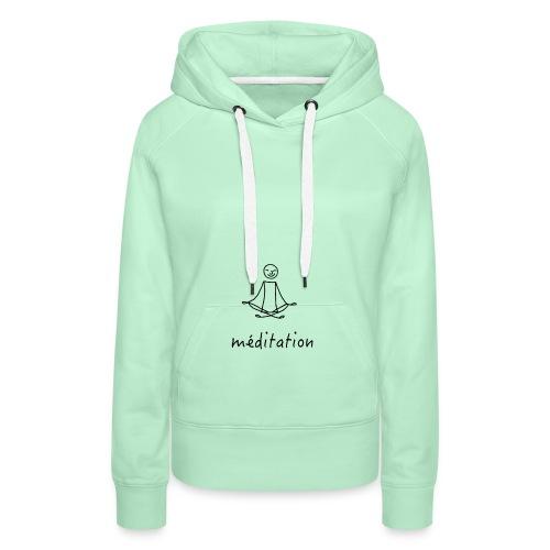 Méditation - Sweat-shirt à capuche Premium pour femmes