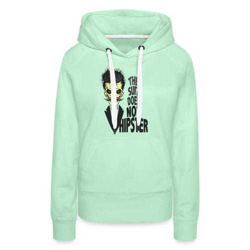 tete de mort hipster citation skull crane humour m - Sweat-shirt à capuche Premium pour femmes
