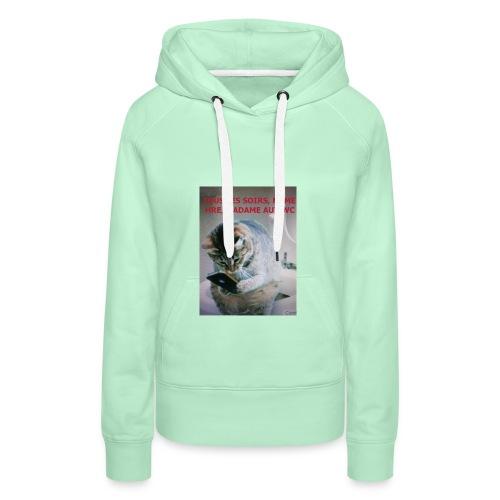 MA FEMME AH le ROYAUME des FEMMES Oui OUI - Sweat-shirt à capuche Premium pour femmes