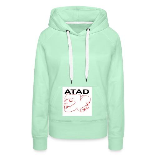 ATAD Logo mit ATAD Schriftzug auf weißem Quadrat - Frauen Premium Hoodie