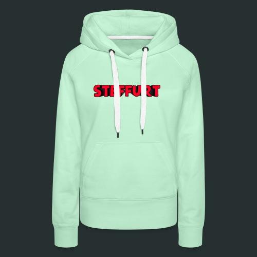 Steffurt LogoEffe zo weer weg xD - Vrouwen Premium hoodie