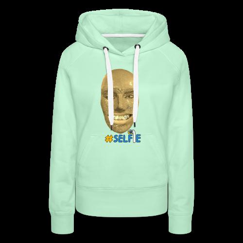 Gold Gesicht mit Zahndiamant - Frauen Premium Hoodie