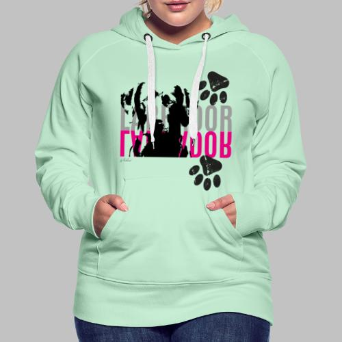 Labrador Kopf Pfoten - Frauen Premium Hoodie