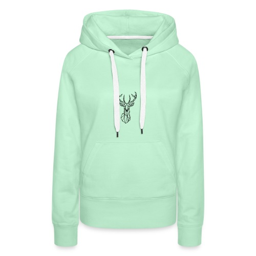 Deer Head - Sudadera con capucha premium para mujer