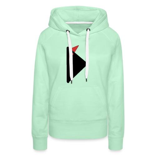 Triangulo con cola. - Sudadera con capucha premium para mujer