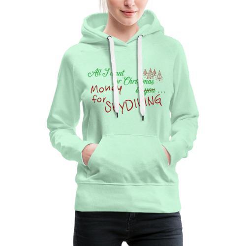 All I want for Christmas grün-rot - Frauen Premium Hoodie