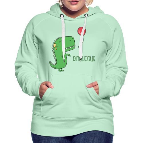 Dinolicious - Felpa con cappuccio premium da donna