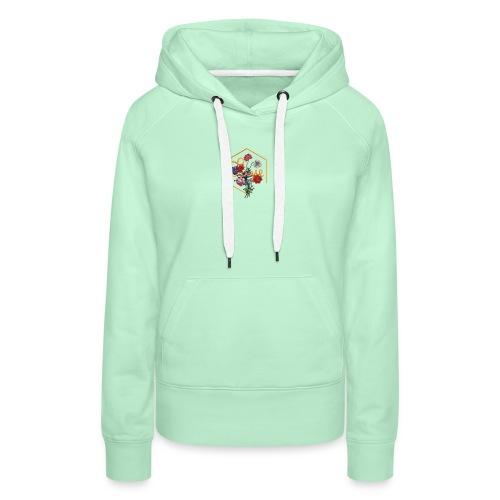Typographie florale du mot Vivre en anglais - Sweat-shirt à capuche Premium pour femmes