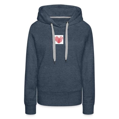 amor - Sudadera con capucha premium para mujer