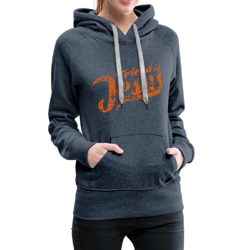 Friend of Jesus orange - Frauen Premium Hoodie