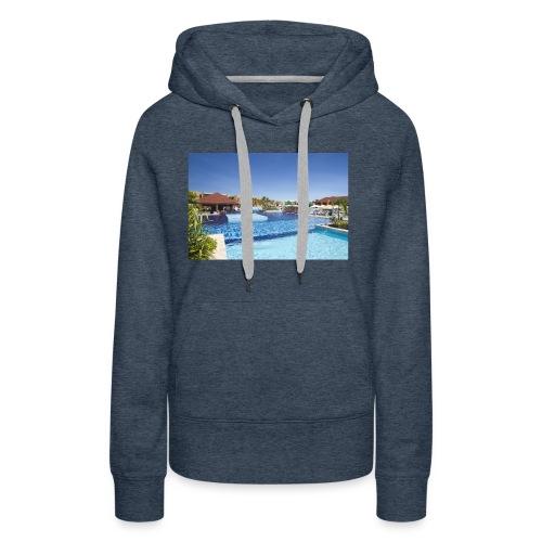 splendide piscine - Sweat-shirt à capuche Premium pour femmes