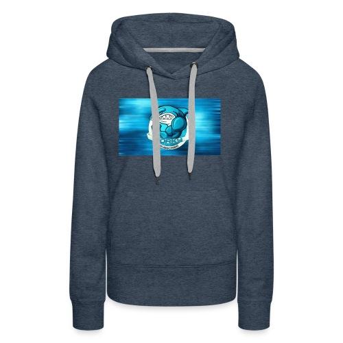 Shark_logo - Felpa con cappuccio premium da donna