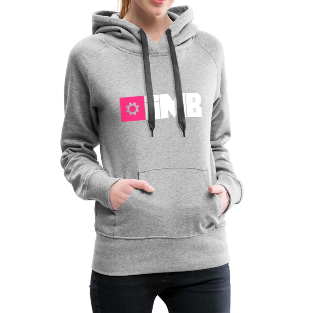 IMB Logo (plain) - Women's Premium Hoodie - heather grey
