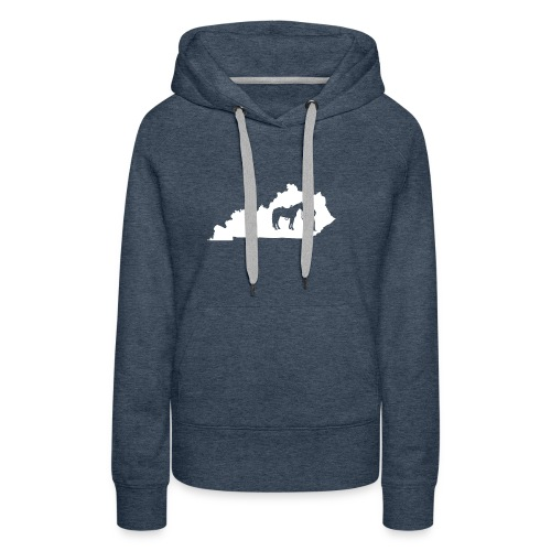 Awesome Kentucky Horse Map Riding Horseback Horse - Frauen Premium Hoodie