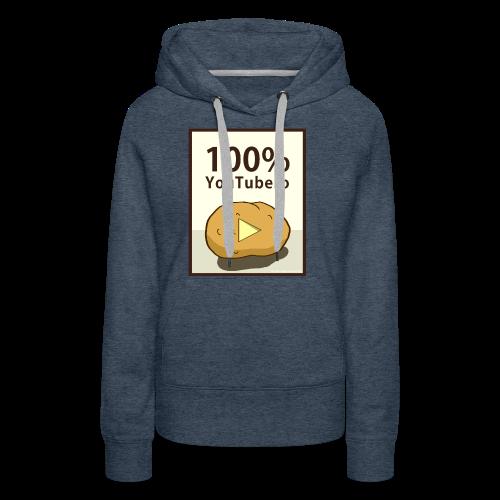 100-_youtubero - Felpa con cappuccio premium da donna