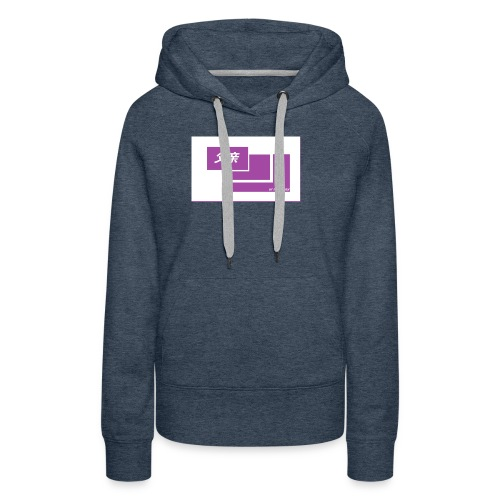 thoughtful mom gay design box logo - Naisten premium-huppari