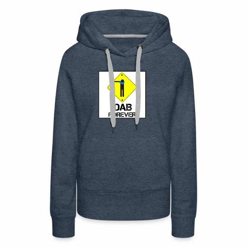Dab Forever Yellow Black - Felpa con cappuccio premium da donna