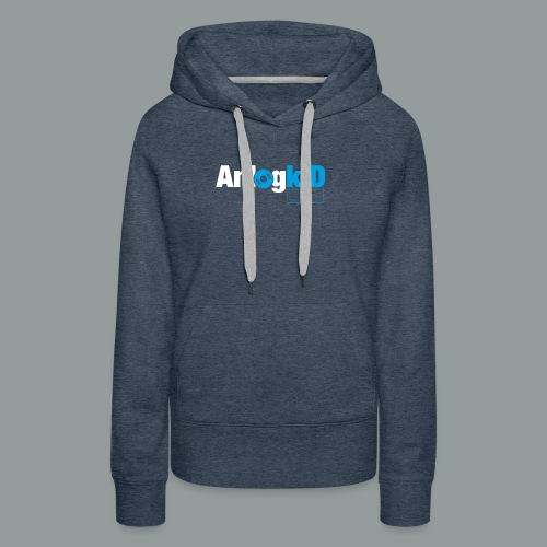 Anlogkid_Logo_Blau - Frauen Premium Hoodie