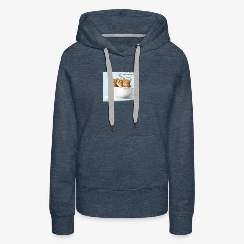 gatito - Sudadera con capucha premium para mujer