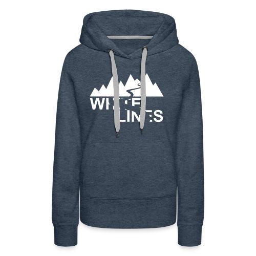 White Lines v3 - Frauen Premium Hoodie