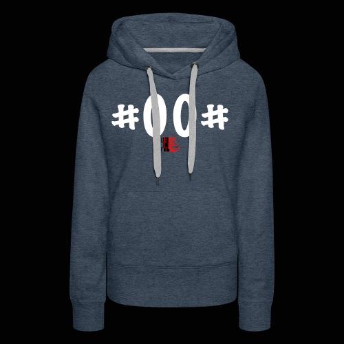 n° de série #00# Blanc - Sweat-shirt à capuche Premium pour femmes