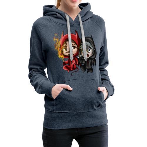 Chibis Halloween - Sweat-shirt à capuche Premium pour femmes