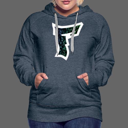 Rauch in Farben mit F Logo in Weiß - Frauen Premium Hoodie