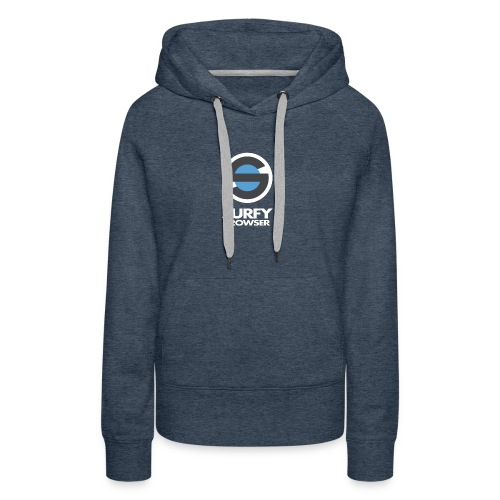 Surfy Browser with Text - Women's Premium Hoodie