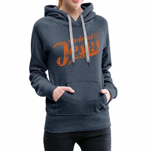 Friend of Jesus orange - Frauen Premium Hoodie