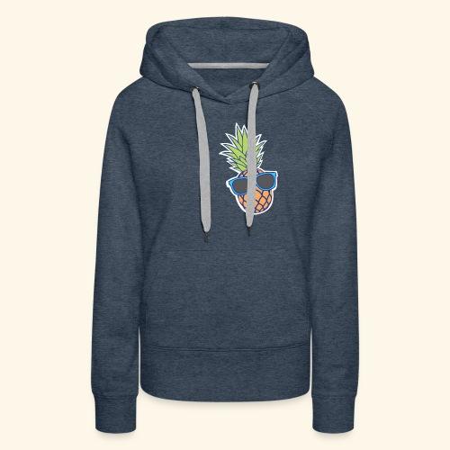 ananas met zonnebril - Vrouwen Premium hoodie