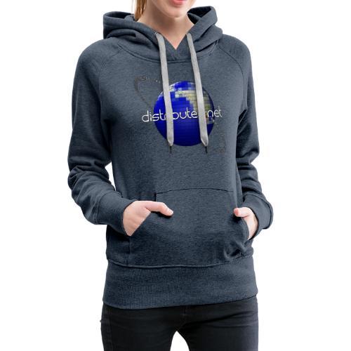 full logo border - Women's Premium Hoodie