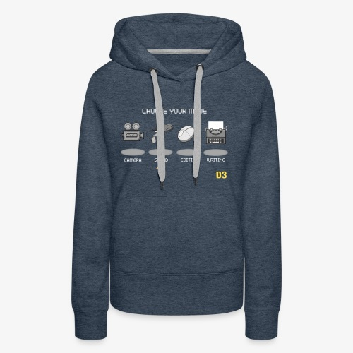 Sound/White - Choose Your Mode - Women's Premium Hoodie