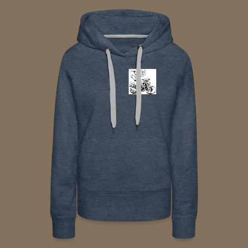 Logo MEV 2 jpg - Sweat-shirt à capuche Premium pour femmes