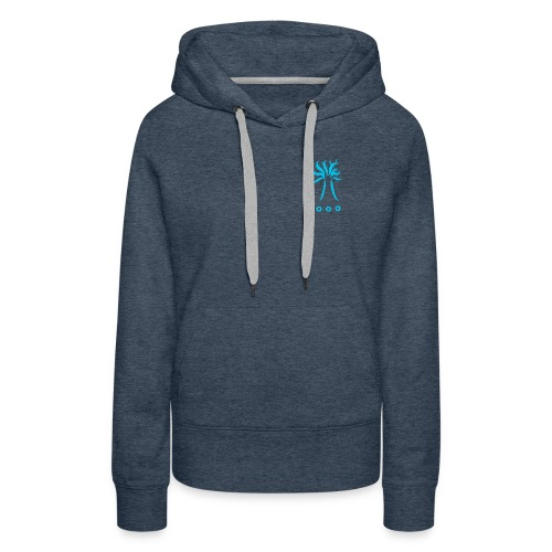 Collection TREE BLEU - Sweat-shirt à capuche Premium pour femmes