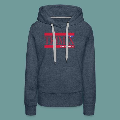 trimix_jaw - Sweat-shirt à capuche Premium pour femmes
